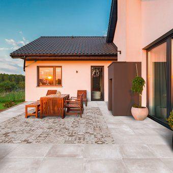 Un Carrelage De Terrasse Decor Facon Tapis Outdoor Point P Carrelage Terrasse Terrasse Imitation Bois Terrasse