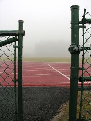 My favorite time to run on the track.... early in the morning!