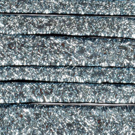 "Black Silver CRINKLE Dichroic 1/4"" Strips"