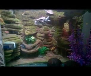 Aquarium 3D Background with Cement and Thermocol(Styrofoam) | REUSE