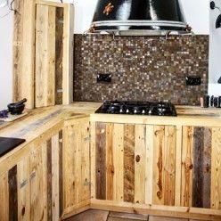 Fabriquer Des Meubles De Cuisine Avec Des Palettes En Bois Meuble Cuisine Cuisine En Palette Palette Bois