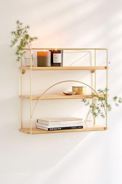 Terrific Lauren Wall Shelf In 2019 Powder Room Wall Shelves Wood Download Free Architecture Designs Remcamadebymaigaardcom