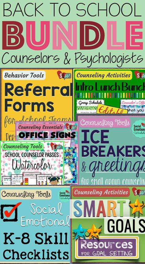 Over 100 pages of materials so you are prepared to start the year off right. Passes, Office Signs, SMART Goals, Ice breakers, SEL checklists, Lunch Bunch, Referral Forms. Social Emotional Workshop