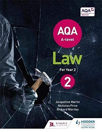 Pdf Free Aqa A Level Law For Year 2 Author Get It Monday Oct 7