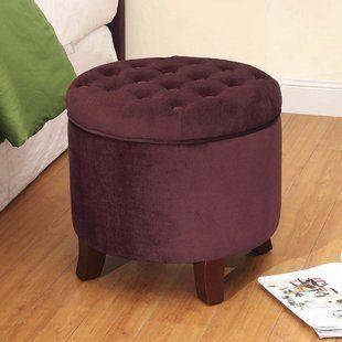 Astounding Kinfine Round Velvet Tufted Storage Ottoman Furniture Home Pdpeps Interior Chair Design Pdpepsorg
