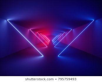 3d Render Laser Show Night Club Interior Lights Glowing Lines