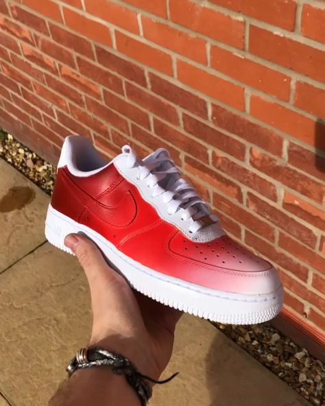 Red Faded Air Force Ones❗️