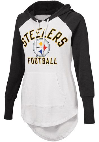 best service 4e5e2 f894b Pittsburgh Steelers Womens White All Division Hooded ...