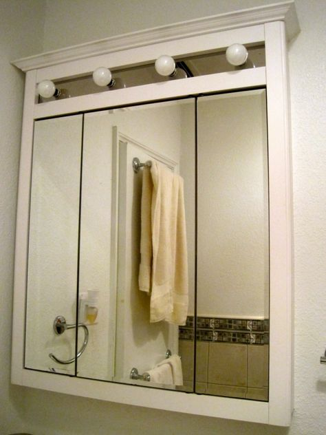 3 Way Bathroom Mirror Cabinet