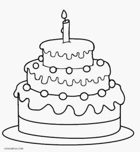 Birthday Cake Coloring Page Big Birthday Cake Cake