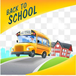 Vector School Bus Background School Clipart Bus Clipart