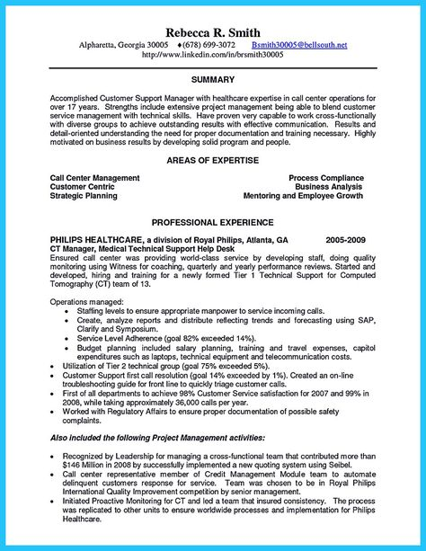 awesome Impressing the Recruiters with Flawless Call Center Resume