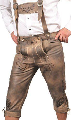 #Kniebundhose #Leder #Antik #Nubuk- #Trachtenlederhose #Herren- #Damen…