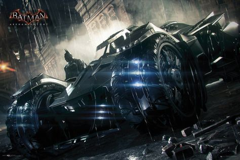Batman Arkham Knight Batmobile - Official Poster