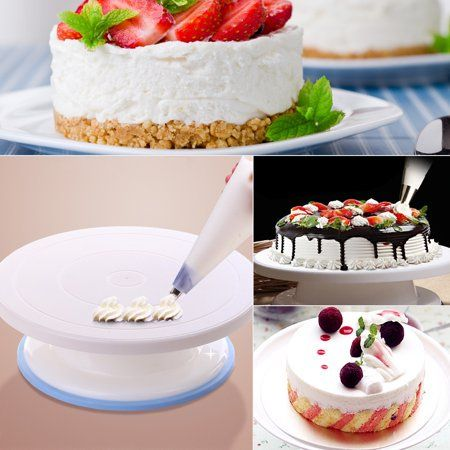 Cake Decorating Turntable Rotating Cake Stand Baking Supplies With Decorating Sets Walmart Com Cake Decorating Turntable Rotating Cake Stand Baking Supplies