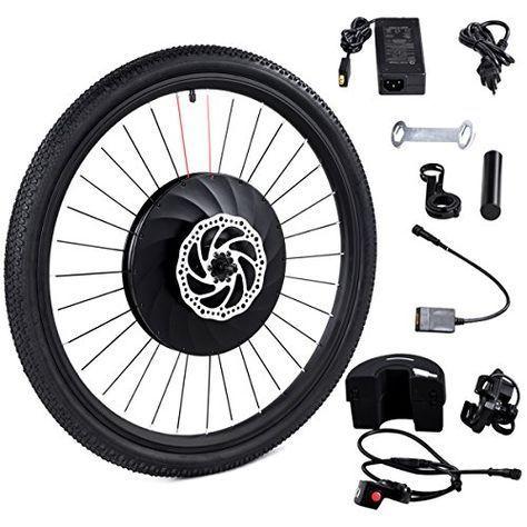 Goplus 26 Front Wheel Electric Bike Conversion Kit E Bike With
