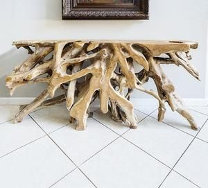 Modway Gridiron Coffee Table Silver Console Table Driftwood