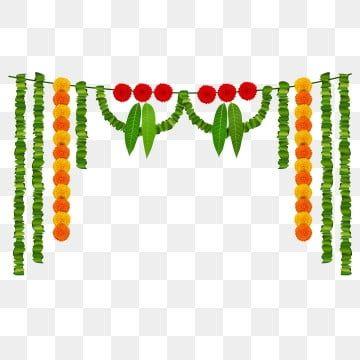 Decorative Garland Marigold Garland Garland Decor Decorative Leaves Leaf Garland