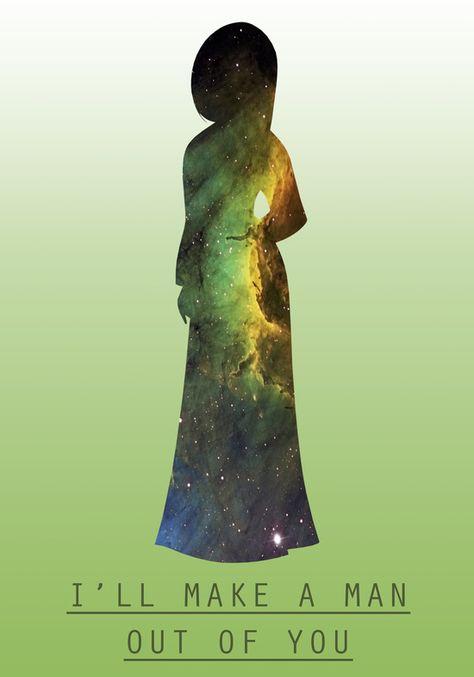 Space Princesses: Mulan Art Print