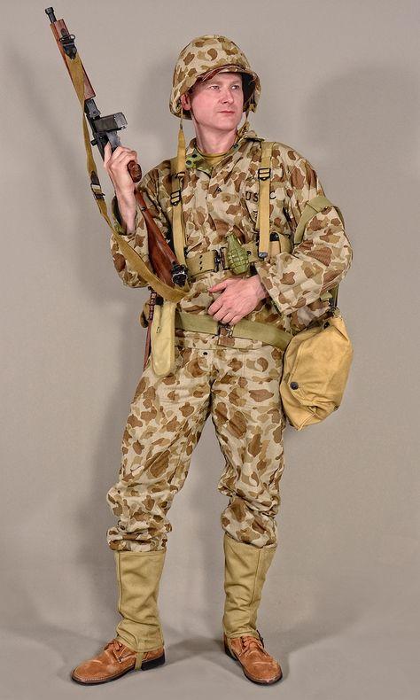 Military - uniform US soldiers WW2 USMC camo2 02 by MazUsKarL #infantry #invasion #marines #military #militaryuniform #pacific #thompson #uniform #us #usa #usmc #war #warfare #weapon #ww2 #battledress #pacificfront