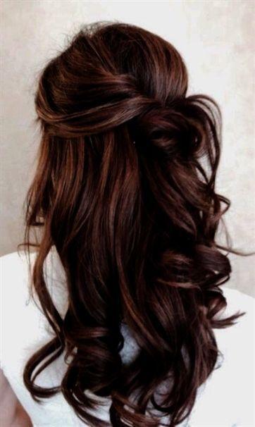 Simple Wedding Guest Hairstyles For Medium Length Hair Simple Bridal Hairstyle Bridal Guest Hair Hairst Hair Styles Long Hair Styles Elegant Wedding Hair
