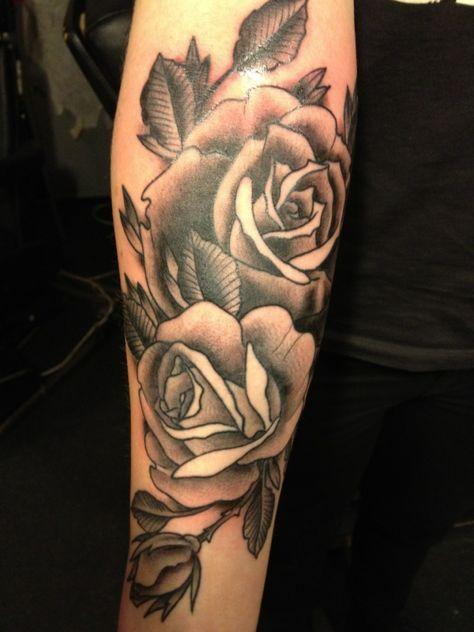 Tattoos of Black and gray roses on legs | Black Grey Tattoo - Free Download Rose Bush In Progress Black Grey ...