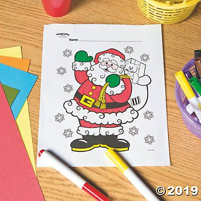 Santa Free Printable Coloring Page Oriental Trading Free Printable Coloring Pages Free Printable Coloring Printable Coloring Pages