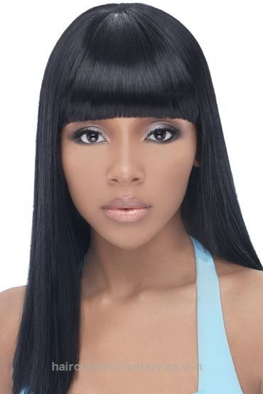Quick Weave Hairstyles With Bangs Black Hairstyles With