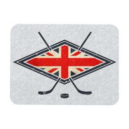 British Ice Hockey Flag Magnet Winter Gifts Style Special Unique Gift Ideas Hockey Flag Ice Hockey Olympic Hockey