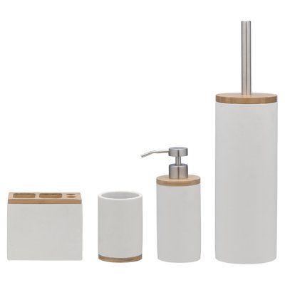 Dotted Line Bodie 5 Piece Bathroom Accessory Set Bathroom