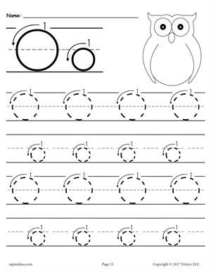 Printable Letter L Tracing Worksheet With Number And Arrow Guides Letter O Worksheets Tracing Worksheets Preschool Printable Preschool Worksheets