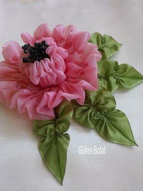 Fotograf Fabric Flower Tutorial Fabric Flowers Diy Ribbon Crafts