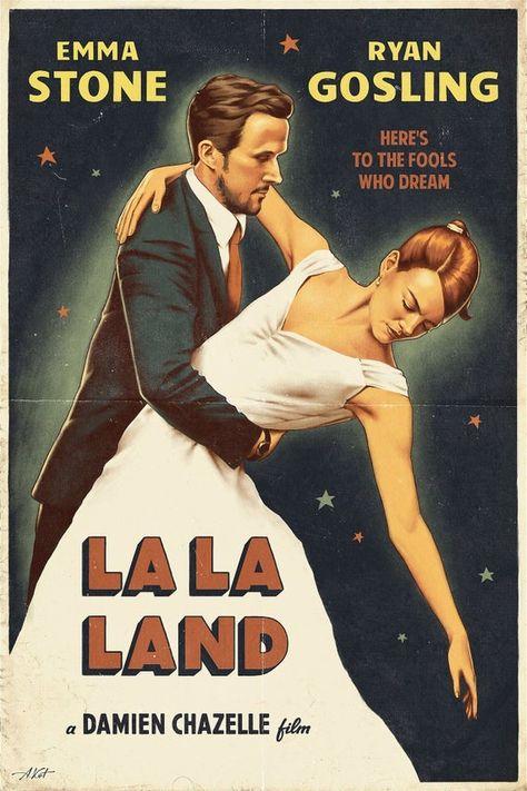 La La Land Movie Poster Print b - Various Size's Musical