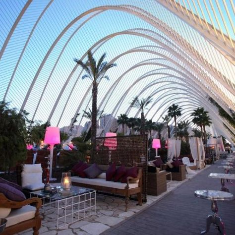 An amazing place to go dancing - The open-air club L'Umbracle y Mya in #Valencia, #Spain