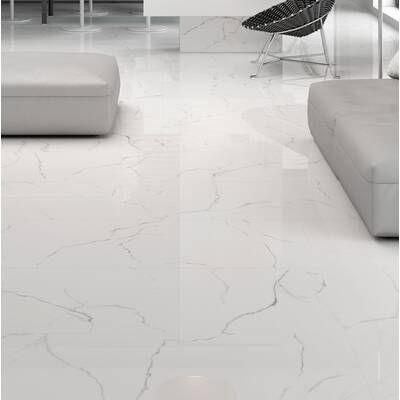 Arabescato Carrara 12 X 24 Marble Stone Look Wall Floor Tile In 2020 Tile Floor Flooring Metal Mosaic Tiles