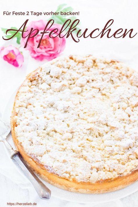 Rezept Fur Den Apfelkuchen Der Zwei Tage Vorher Gebacken Werden Muss Rezept Kuchen Rezepte Kuchen Rezepte Einfach Apfelkuchen Rezept