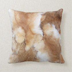 Earth Tone Throw Pillows.Earth Tone Faux Rabbit Fur Print Throw Pillow Zazzle Com