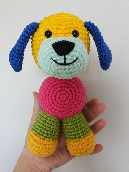 Cachorrinho Filhote Amigurumi 🐶 Receita Grátis - YouTube | 580x435