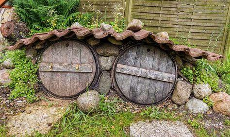 Was aussieht wie der Prototyp einer Hobbithöhle ist ein kleiner Erdkeller zur Lagerung von Gemüse
