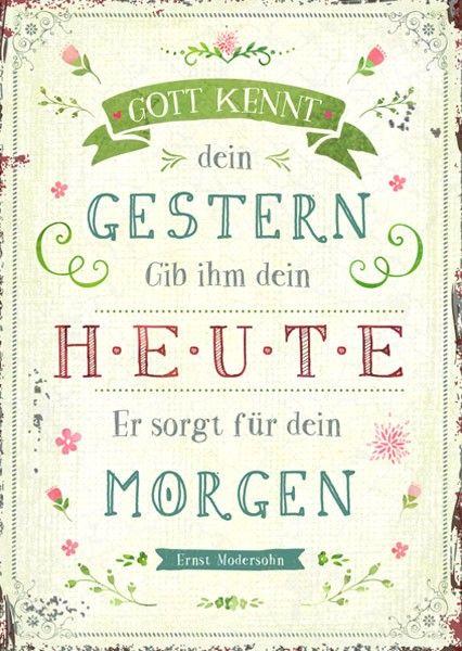 Postkarte - Gott kennt dein Gestern