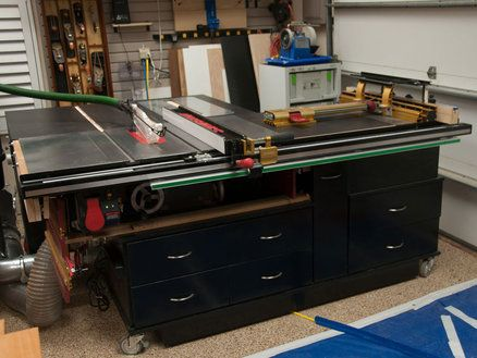 Probably best table saw router table and mobile workstation probably best table saw router table and mobile workstation combination ive seen shop ideas pinterest router table woodworking and shop ideas greentooth Gallery
