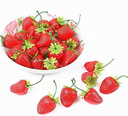 Fake Strawberry Decor Party Red Decorative Artificial Plastic Display Newest