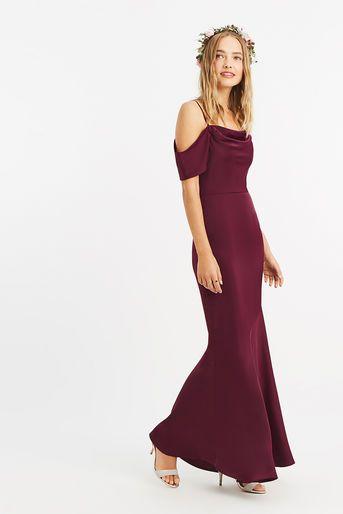 Oasis Amy Slinky Cowl Neck Maxi Burgundy Dresses Bridesmaid Dresses Burgundy Maxi Dress