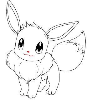 How To Draw Eevee Pokemon Draw Central In 2020 Pokemon Coloring Sheets Pokemon Coloring Pages Pikachu Drawing