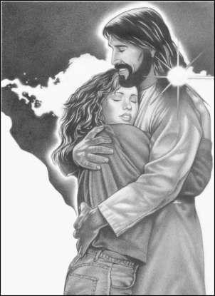 The Savior's embrace.