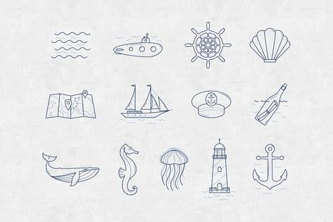 In the sea - vector linear icon set #theme#linear#icons#receive