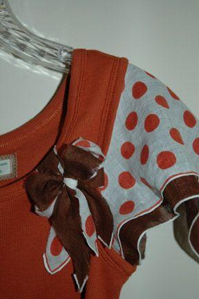 Brilliant! Add vintage handkerchief sleeves to a tank top.