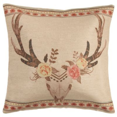 Sedona Burlap Square Throw Pillow