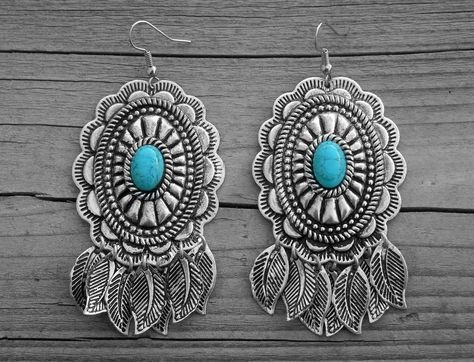 Dangle Earring Punk Vintage Long Tassel Feather Drop Navajo Dream Catcher Flower Hook Women Girl