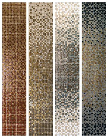 Glass tile Gradient Examples. Gradient blends available at World Mosaic Tile | www.worldmosaictile.com